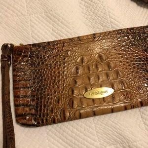 Authentic Brahmin Large wristlet clutch